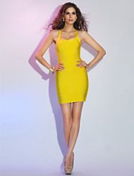TS Couture® Cocktail Party / Holiday Dress - Daffodil Petite Sheath/Column Straps Short/Mini Rayon