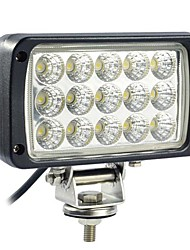 45W 15 LED de luz de trabajo Rectangle