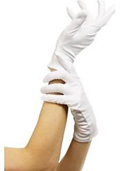 Court tergal Gants blancs d'Halloween pour les femmes