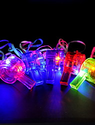 Light Flash Colorful Whistle(More Colors)-Set of 4