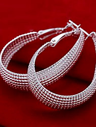 Net Shape Hoop Earrings