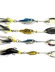 1 pcs Hard Bait / Metal Bait / Fishing Lures Hard Bait / Metal Bait Gold / Blue / Random Colors 6g 11g 15g 20g g/3/8 oz. / 3/4 oz. / 1/4