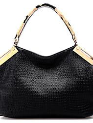 Великолепная FEILIMEI Крокодил шаблон плеча / сумка через плечо / большая (черный)