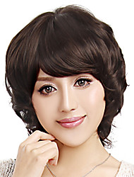Capless Short High Quality Synthetic Brown Wig