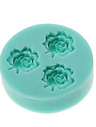 3D Mini 3-Fleur Moule silicone