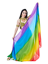 Colorful Performance Silk Belly Dance Mixed Colors Veils For Ladies