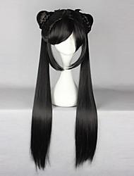 Косплэй парики Сакура Li Meiling Черный Длиные Аниме Косплэй парики 80 CM Термостойкое волокно Женский