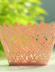 Floral Laser Cutting Cupcake Wrapper- Set of 12