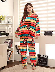 Women's Fleece Stripe Lounge Wear