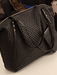 Spring Light Women's Elegant High Quality Horizontal PU Messenger Bag/Tote(Black)