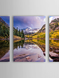 Stretched Canvas Art Landscape Maroon Bells by Dan Ballard Set of 4