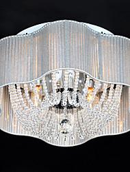 Modern Cristal 4 E14 Luz Montagem Embutida Com Sombra Cremosa Branco