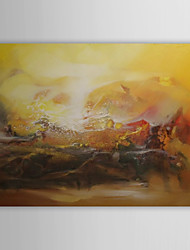 Hand Painted Oil Painting Abstract a Sea of Fire With Stretched Frame 1311-AB1127