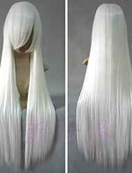 Cosplay Wigs InuYasha Inu Yasha White Long / Straight Anime Cosplay Wigs 80 CM Heat Resistant Fiber Male