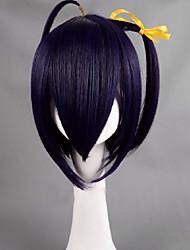 Chunibyo demo Koi ga Shitai! Rikka Takanashi púrpura corto cosplay peluca