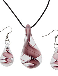 Perfume Bottle Coloured Glaze Jewelry Set