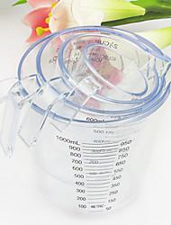 1L Measuring Cups & Spoons,Transparent Plastic