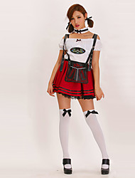 Doce Beer Girl Wine Red Maid Uniform