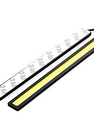 Lorcoo 7w dc12v 480lm 6000k 14cm / 5.5inch conduit voiture de cob blanc pur drl jour lumière de jour brouillard conduit lamp2pcs