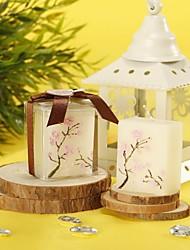 Цветы Свечи сувениры-4 Пьеса / Установить Свечи Не персонализированные Белый