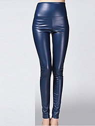 Women's Black/Blue/Red Skinny Pants , Casual