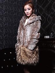 Calidad Loose Fit abrigo de piel de imitación de alta CHAOLIU Mujeres