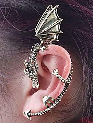 Vintage Punk Style Bronze Fly Dragon Left Ear Stud 1pcs Christmas Gifts