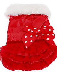 Winter - Rood / Roze / Zwart Katoen - Jurken - voor honden - M / XL / S / L / XXL