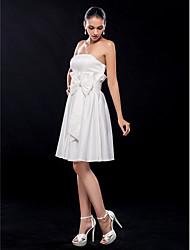 Cocktail Party/Graduation Dress - Ivory Plus Sizes A-line Strapless Knee-length Satin