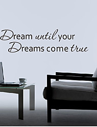 Parole Dream Il tuo sogno Wall Stickers