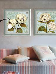 A fleurs/Botanique Toile Encadrée / Set de Cadres Wall Art,PVC Gris Sans Passepartout Avec Cadre Wall Art