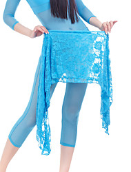 Belly Dance Hip Scarves Women's Training Chiffon Lace 1 Piece Hip Scarf