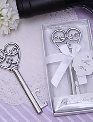 "Chrome Bottle Favor Bottle Openers Classic Theme Non-personalised Silver 4"" × 1 1/4"" (10*3.2cm)"