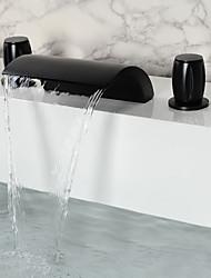Vintage Style Öl eingerieben Bronze Wasserhahn zwei Griffe Bathroomtub