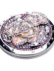 Elegant Camellia Makeup Pocket Mirror