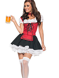 Octoberfest Beer Girl Lace-up Top Uniforme da empregada doméstica