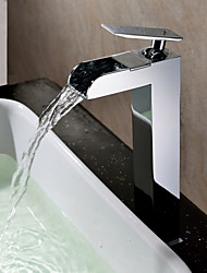 Sprinkle® Sink Faucets Waterfall / Centerset with Chrome Single Handle One Hole