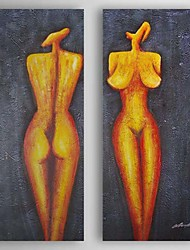 Hand Painted Oil Painting People Nude with Stretched Frame Set of 2 1310-PE1195