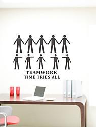 Pessoas Trabalho em Equipe Tempo Tenta Todos os adesivos de parede