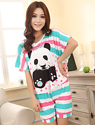 Women's Cute Stripe Lounge Wear