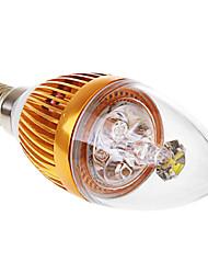 e14 3w 6000k luz blanca llevó la vela ligera AC110 / 220v