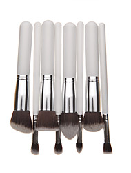 8PCS White Handle Foundation Eye Shadow Brush Set