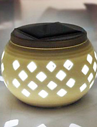 Diamond Pattern Hollowed-Out LED Solar Powered Garden Light -Solar Table Light- Solar Small Night Light In Jar Design
