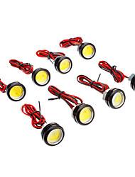 8PCS 3W 180-220LM Larger Lens Ultra-thin Car LED Tail Light Backup led White Color Lighting (12V)