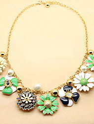Fashion Alloy With Pearl Flower Womem's Necklaces