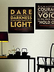 luchar contra las palabras oscuridad lienzo enmarcado juego de 2