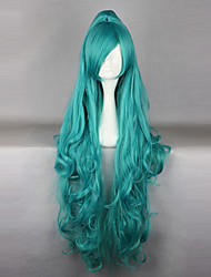 KARNEVAL Iva Cyan Long Curly Cosplay Wig