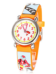 Children's Little Round Dial 3D-Moto Racing Patern siliconen band quartz analoog horloge (verschillende kleuren)