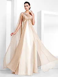 Formal Evening/Military Ball Dress - Champagne Plus Sizes Sheath/Column One Shoulder Floor-length Chiffon