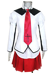 Noble College Spruce Hot Girl Red and White School Uniform
